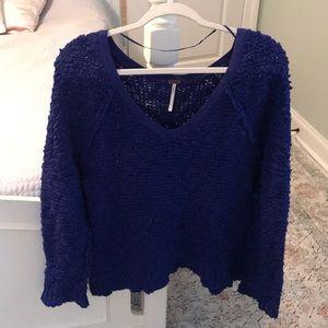 Free People Blue Sweater